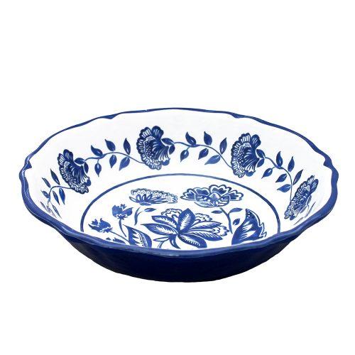 """Le Cadeaux-Jardin Blue Cereal Bowl 7.5"""""""