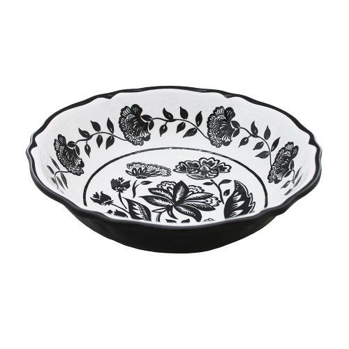 """Le Cadeaux-Jardin Black Cereal Bowl 7.5"""""""
