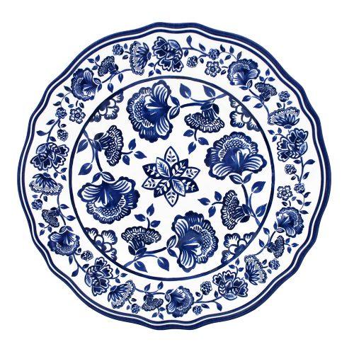 """Le Cadeaux-Jardin Blue Salad Plate 9"""""""