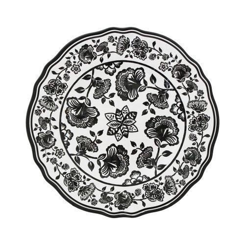 """Le Cadeaux-Jardin Black Salad Plate 9"""""""