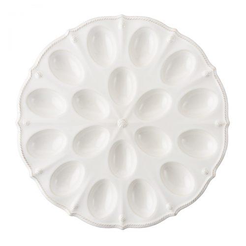 JULISKA Berry & Thread Whitewash Deviled Egg Platter