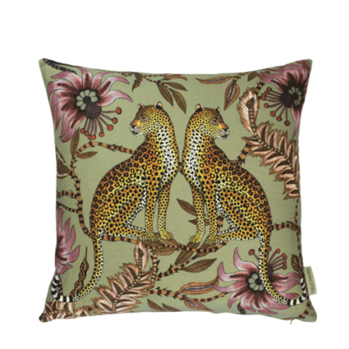 Ardmore Lovebird Leopard Delta Cotton Pillow