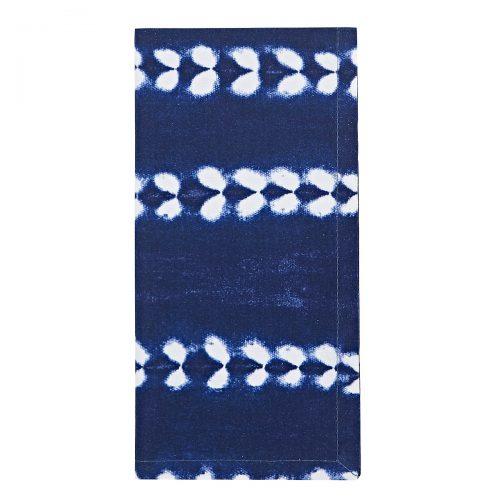 Deborah Rhodes Napkin Tie-Dyed Cotton Navy