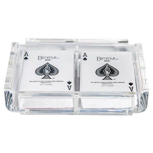 "Luxe Dominoes ""La Pinta"" Luxe Card Deck Clear"