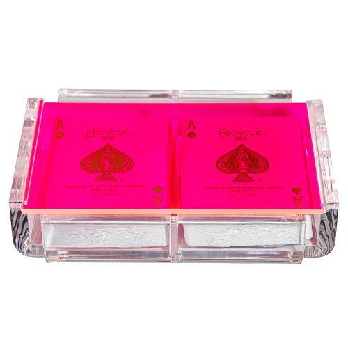 """Luxe Dominoes """"La Pinta"""" Luxe Card Deck Pink"""
