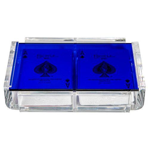 "Luxe Dominoes ""La Pinta"" Luxe Card Deck Blue"