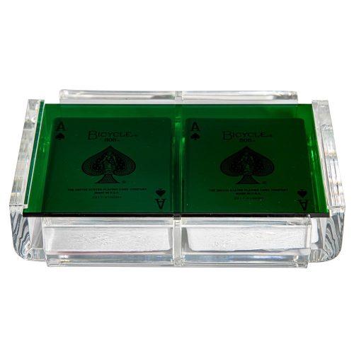"""Luxe Dominoes """"La Pinta"""" Luxe Card Deck Green"""