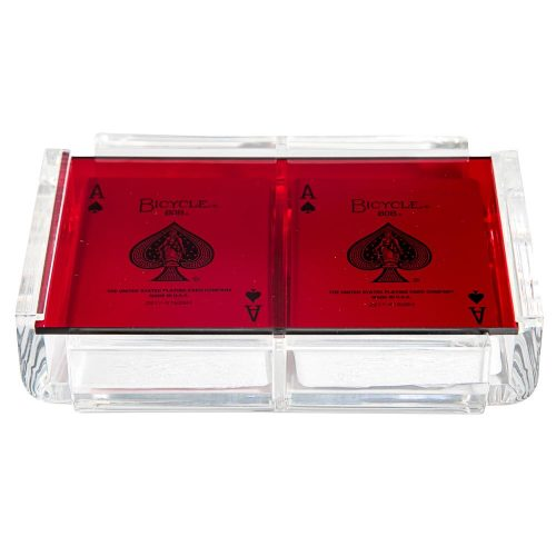 "Luxe Dominoes ""La Pinta"" Luxe Card Deck Red"