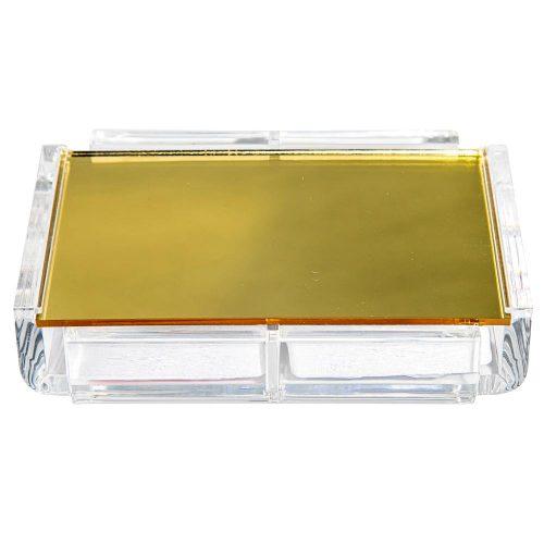 "Luxe Dominoes ""La Pinta"" Luxe Card Deck Gold"