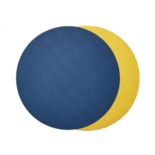 Viper Reversible Blue & Yellow Placemat - Set of 2