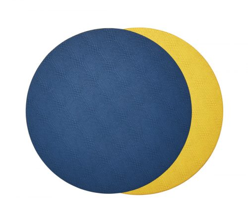 Kim Seybert VIPER REVERSIBLE Placemat BLUE & YELLOW