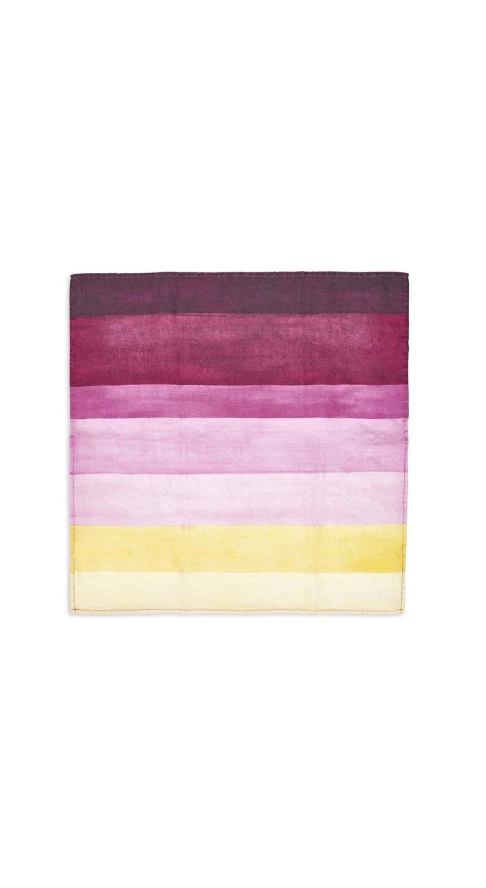 Summerill & Bishop-Napkin Shades Of Pink Striped