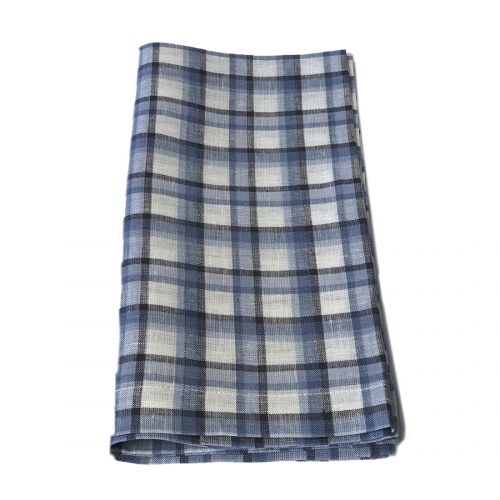 Tina Chen Designs Napkin Blue/Black/White Check