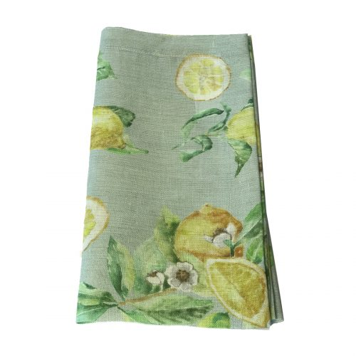 Tina Chen Designs Napkin Lemon Print