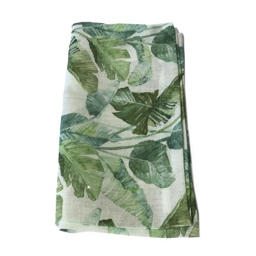 Tina Chen Designs Napkin Green Palm Leaf Print