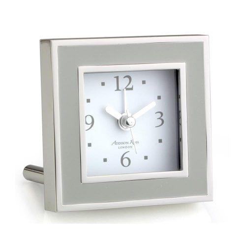 Addison Ross Chiffon & Silver Square Alarm Clock