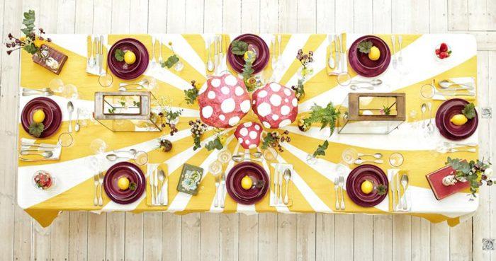 Summerill & Bishop-Tablecloth Le Cirque Linen Yellow