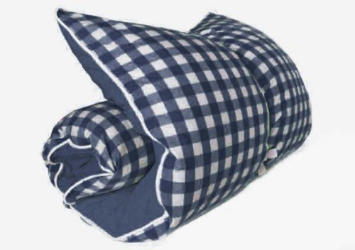 Hedgehouse Throw Fred Darling Gingham Navy