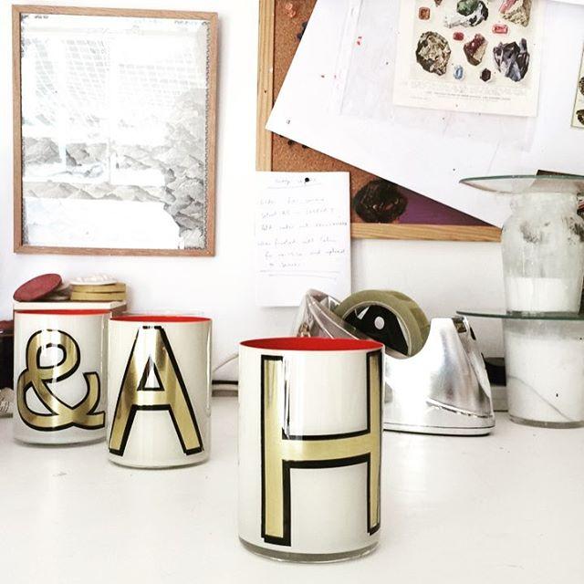Bridie Hall alphabet mugs