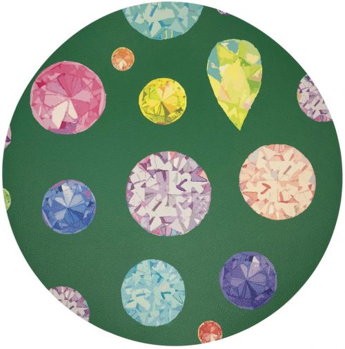 Nicolette Mayer-JEWEL GREEN 16 ROUND PEBBLE PLACEMAT