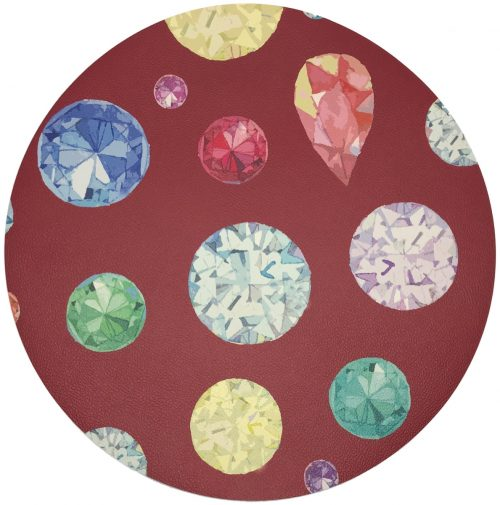 "Nicolette Mayer-JEWEL RED 16"" ROUND PEBBLE PLACEMAT"