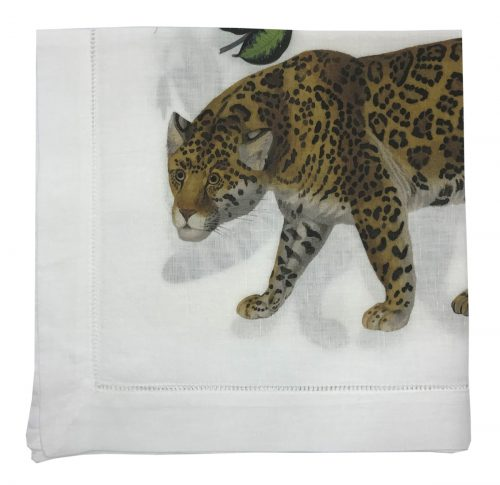 Nicolette Mayer-LEOPARD SEEING DOUBLE 22X22 HEMSTITCH NAPKIN