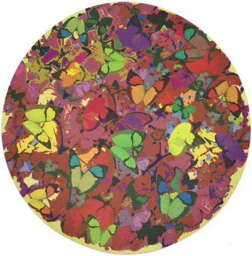 Nicolette Mayer-MARIPOSA POP 16 ROUND PEBBLE PLACEMAT