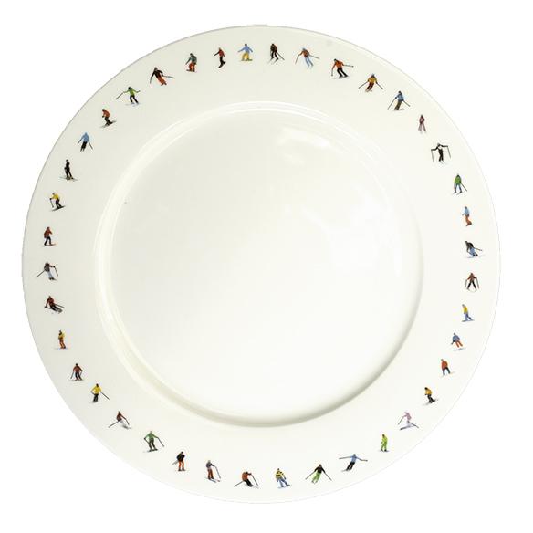 Powderhound SKI CHAIN DINNER PLATE