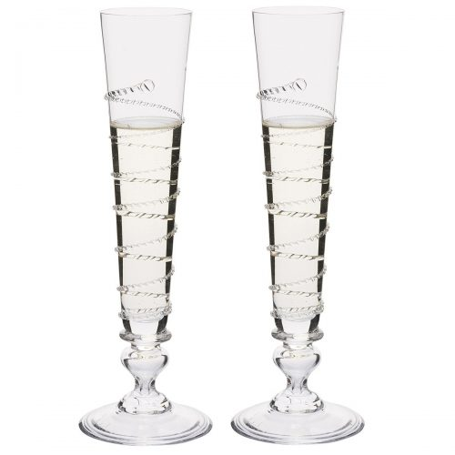 JULISKA GLASSWARE AMALIA-Pair of Amalia Champagne Flutes
