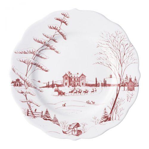 Juliska Country Estate Winter Frolic Ruby Dinner Plate Christmas Eve