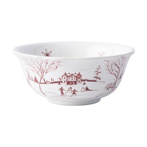 Juliska Country Estate Winter Frolic Ruby Cereal/Ice Cream Bowl