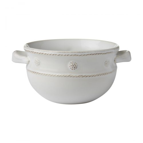 JULISKA Berry & Thread Whitewash 2 Handled Soup/Chili Bowl