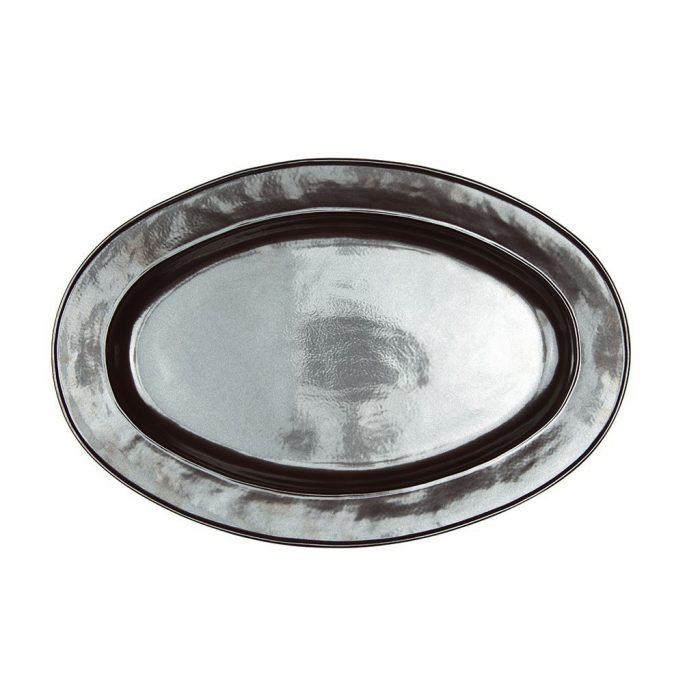 "JULISKA Pewter Stoneware 21"" Oval Platter"