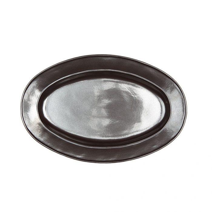 "JULISKA Pewter Stoneware 15"" Oval Platter"