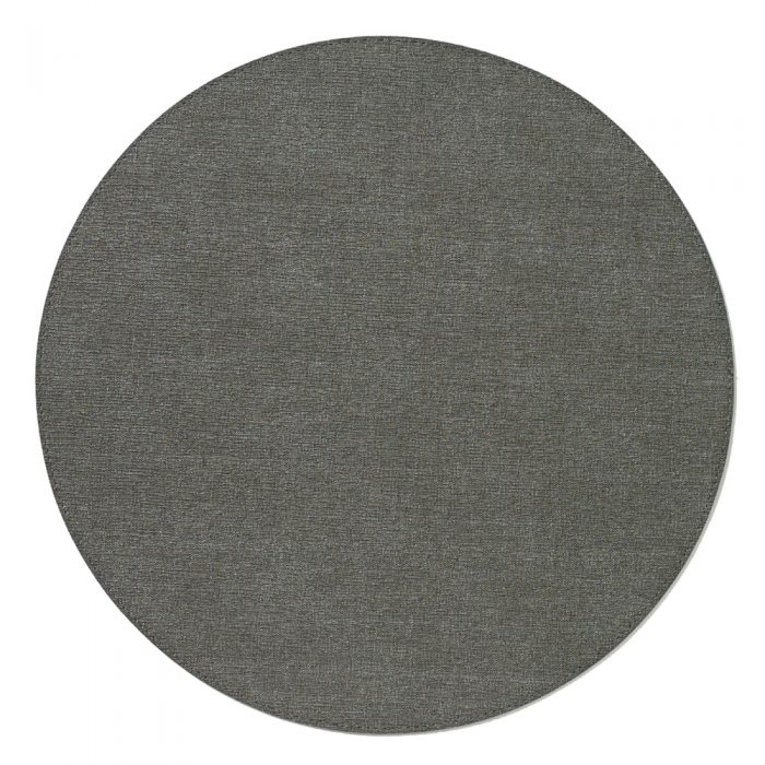 Bodrum Placemat Round Presto Charcoal