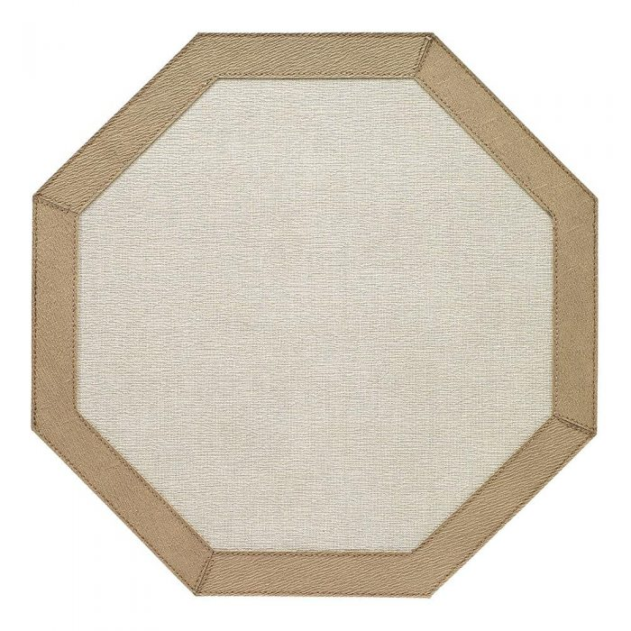 Bodrum Placemat Rectangle Bordino Oatmeal Tobacco