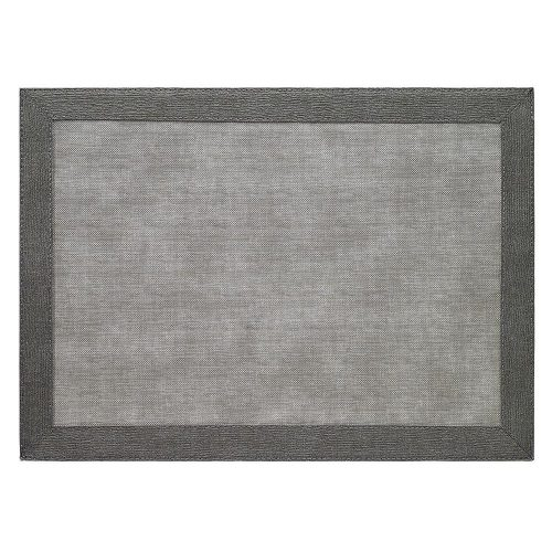 Bodrum Placemat Rectangle Bordino Grey Charcoal
