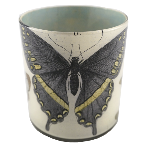 John Derian - Blue Butterfly Desk Cup