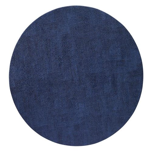 Bodrum Placemat Round Luster Navy