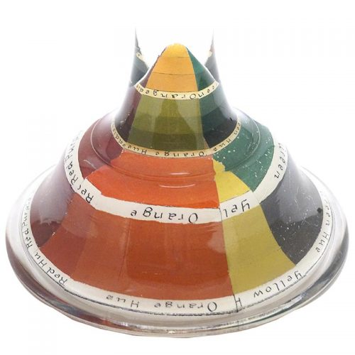 John Derian Stacking Cake Pedestal Spectrum with Text (Large)