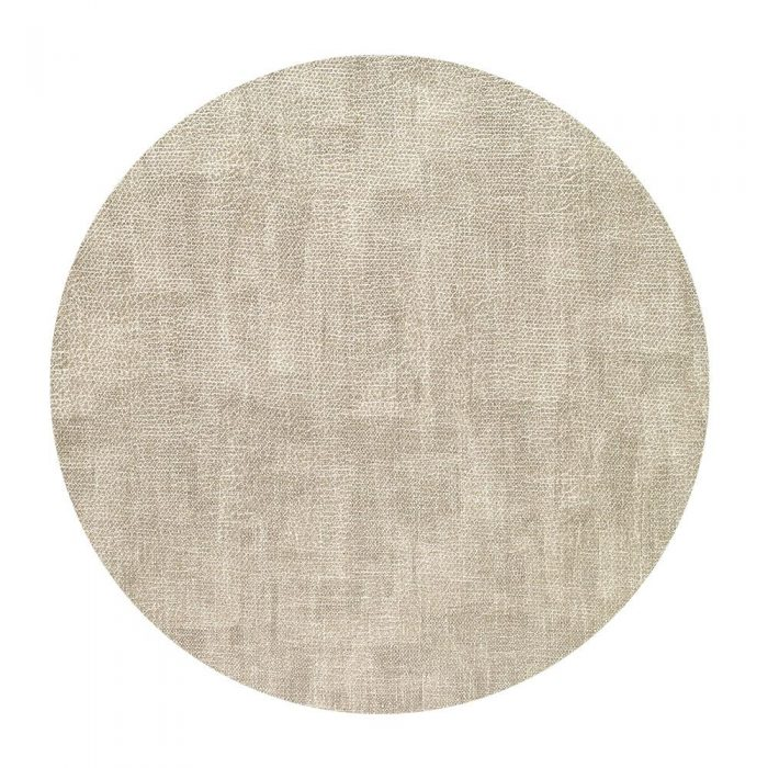 Bodrum Placemat Round Luster Birch
