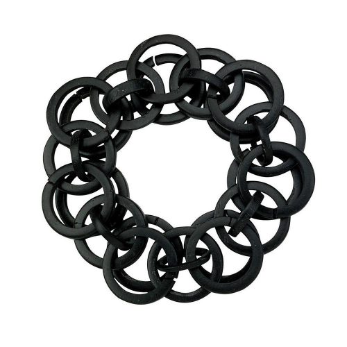 Bodrum Napkin Rings Loops Black