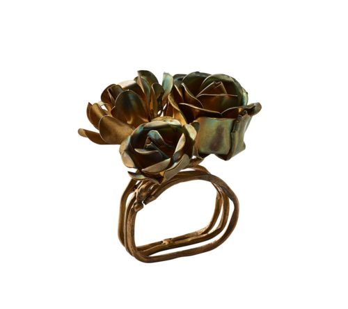 Kim Seybert BOUQUET NAPKIN RING GOLD