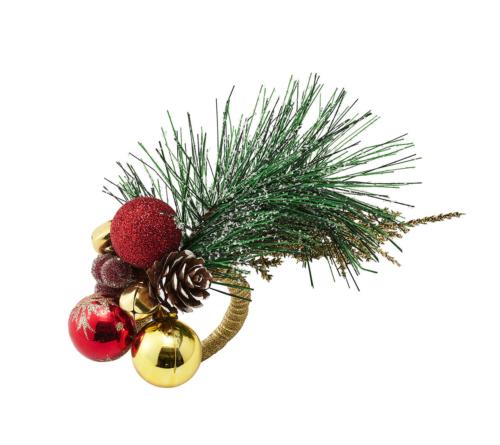 Kim Seybert FLARE NAPKIN RING CHRISTMAS SPRIG