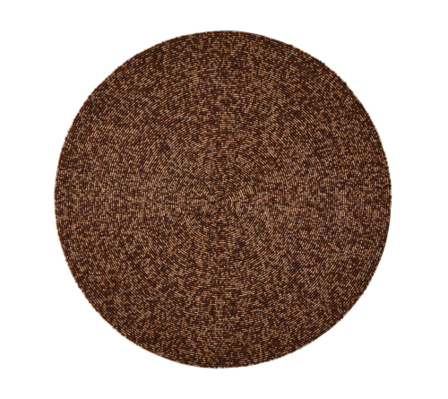 Kim Seybert CONFETTI PLACEMAT IN BROWN
