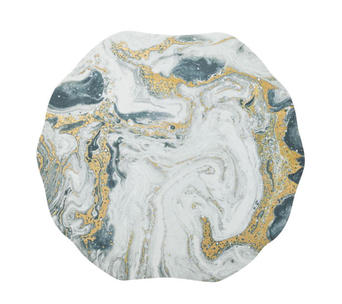 Kim Seybert COSMOS Placemat IVORY, GOLD & SILVER