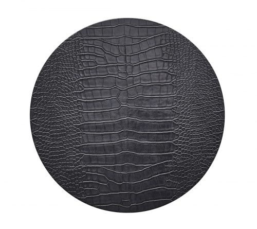 Kim Seybert CROCO PLACEMAT IN CHARCOAL