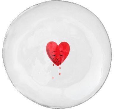 ASTIER DE VILLATTE-John Derian Crying Heart Saucer