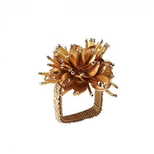 Starburst Gold Napkin Ring - Set of 2