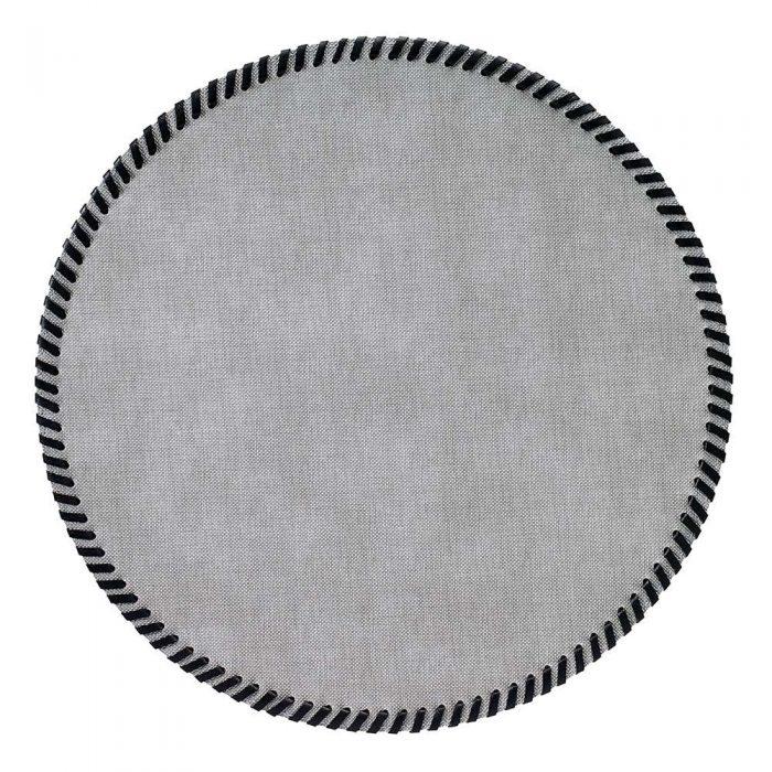 Bodrum Napkin Whipstitch Grey